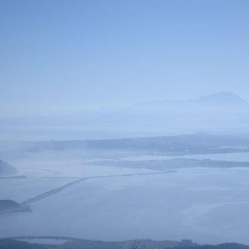 0760   枕木山からみた大山