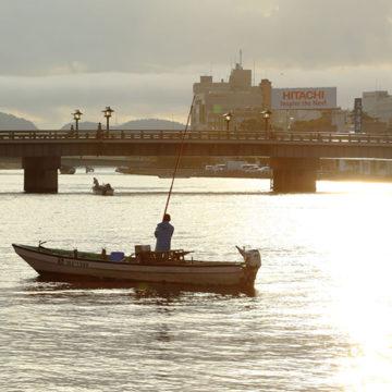 0860    大橋川 シジミ漁
