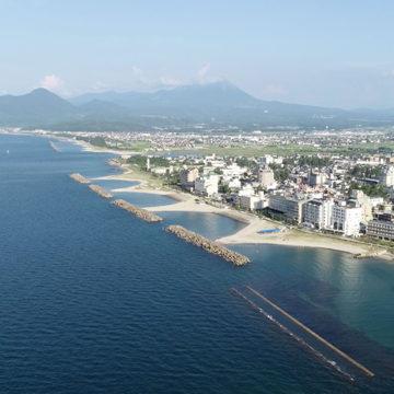 1241 米子市 皆生海岸からの大山